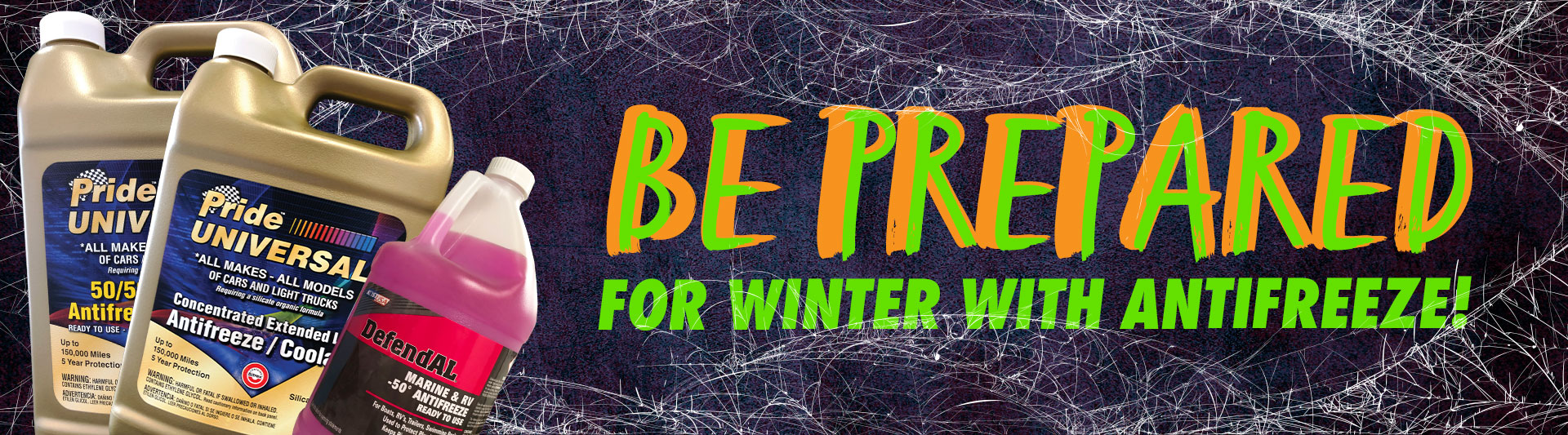 Be Prepared for winter with antifreeze