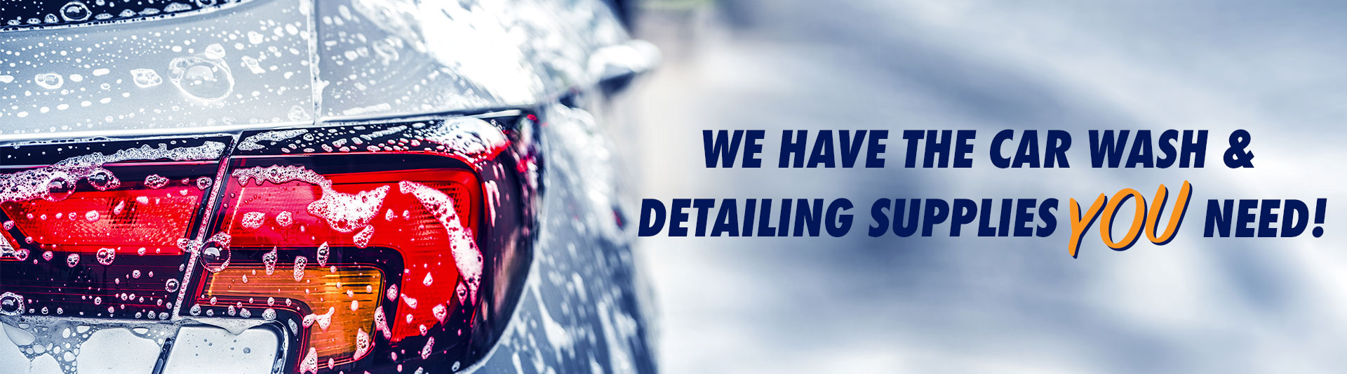 We have the car wash and detailing supplies you need!