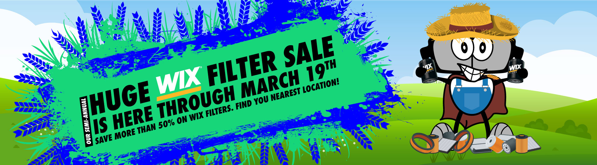 Our huge Wix Filter sale is back March 8th through 19th