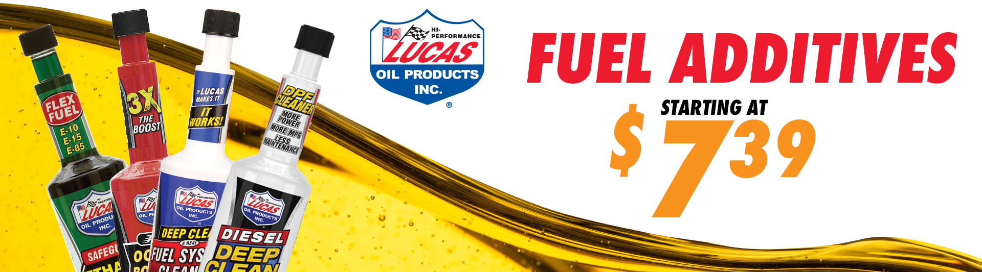 Lucas Oil Fuel Additives starting at $7.39