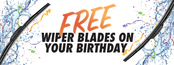 Free wipers on your birthday